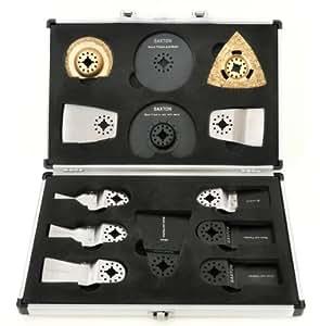 Saxton SH13CS01 - Juego de cuchillas para Fein Multimaster y herramientas multiusos Bosch (13 unidades, en maletín)