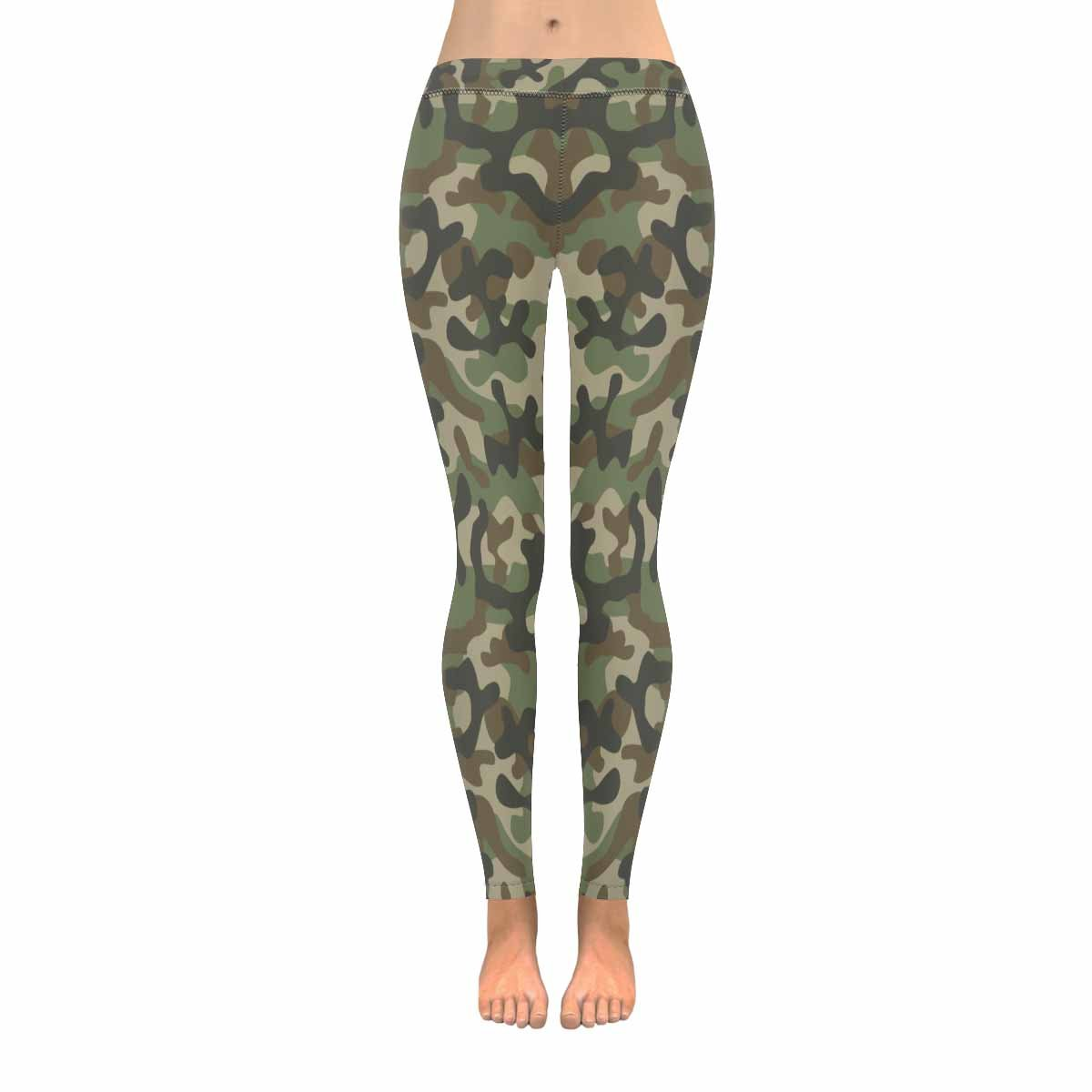 8259b99d4c0fb InterestPrint Triangle Geometric Mosaic Tiles Camo Camouflage Stretchy  Capri Leggings Skinny Yoga Running Pants for Women 2XS-5XL SIZE: XXS, XS,  S, M, L, ...