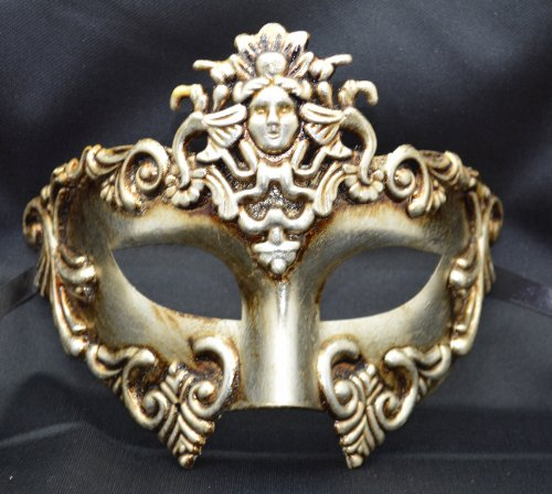 Mens Mythological Silver Madusa Greek Style Party Mask Mens Mythological Greek Style Party Mask Mardi Gras Majestic Party Halloween Ball Prom]()