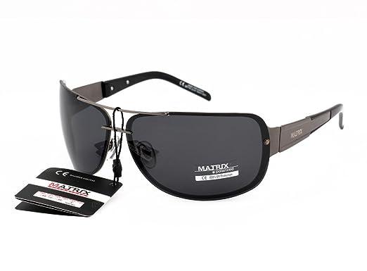 4c5781ea539 Image Unavailable. Image not available for. Colour  Matrix Pilot-Aviator  Style Polarized Sunglasses for Drivers - Light Grey Lenses - No Glare