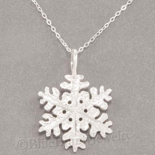 OutletBestSelling Beads Bracelet Snowflake Necklace Snow Flake Charm Diamond Cut Pendant Sterling Silver 18