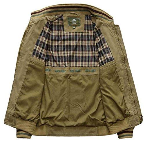 Militare Militari Jacket Da Uomo Yyzyy Cotone Alto Cachi Campo Cappotti Autunno Primavera Giacche Mens Classico Collo Bomber W6w8xqd58Z
