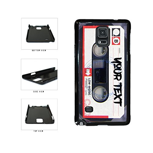 BleuReign(TM) Personalized Custom Name Mixtape Cassette Plastic Phone Case Back Cover For Samsung Galaxy Note IV 4
