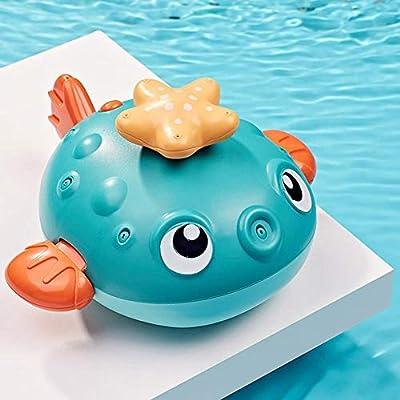 Baby Bath Toys, Fun Bath Time Tub Toys w/Organizer, Kids Wind Up Water Toys Floating Bathing Toy Water Spray Toy: Home & Kitchen