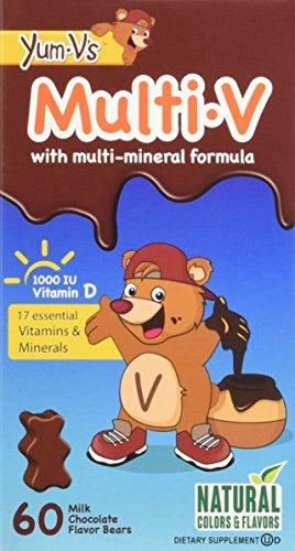 Yum V's Multi-Vitamin Plus Mineral Formula Milk Chocolate, 60 Count Kids Formula Vitamin
