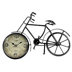 Antiquite de Paris Rue Murillo Bicycle Statue Tabletop Clock