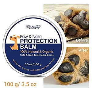 Fancymay Organic Paw and Nose Balm Wax (Large - 100 Gram) for Dogs and Cats, Natural Pets Pad Protection Wax to Heal, Soothe and Protect Cracked, Rough and Dry Paws, Noses and Snouts 4