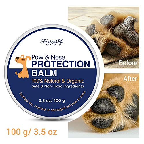 Fancymay Pet Paw Protection Balm 100-Gram Value Pack, Natural Paw & Nose Protection Balm for Dogs & Cats- 3.5 OZ ()