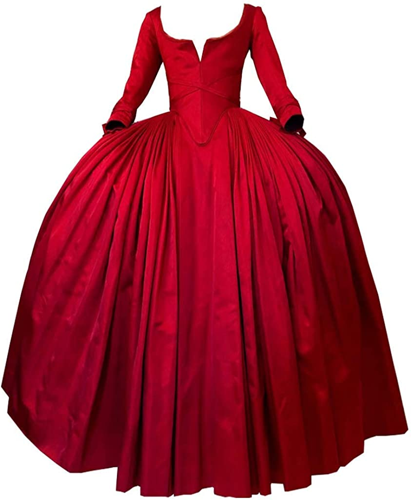 Women's Scottish Highland Dress Claire Fraser Red Dress Ball Gown from Outlander