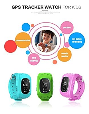 SinoPro Q50 Children Kids Smart Watch Wrist Watch with SIM Calls Anti-lost GPS Tracker SOS Call Location Finder Remote Monitor Pedometer Functions Parent Control By iPhone and Android Smartphones