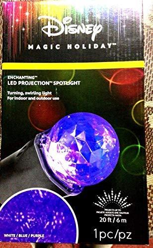 Disney Swirling White, Blue, Purple LED Christmas Spotlight