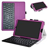 Huawei MediaPad M5 8.4 2018 Bluetooth Keyboard Case,Mama Mouth Slim Stand PU Leather Cover with Romovable Bluetooth Keyboard for Huawei MediaPad M5 8.4 2018 Android Tablet,Purple