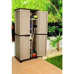 6ft-Mocha-Plastic-Garden-Storage-Utility-Shed-Cabinet-with-shelves