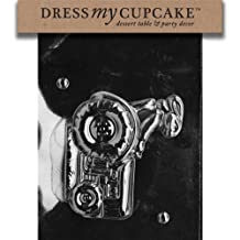 Dress My Cupcake DMCE221A Chocolate Candy Mold, Bunny on Tractor-Piece 1, Easter
