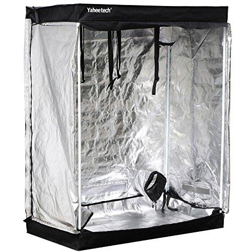 "51RwSz4bQEL - Yaheetech 48""X24""X60"" Reflective Indoor Grow Tent Kit Complete Hydroponic Non Toxic Grow Hut Box"