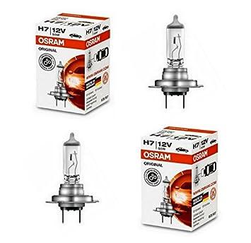 2x Bosch LongLife Daytime H7 55W 12V Halogen Lampen Set original wei/ß 1987302078 Abblendlicht Fernlicht Nebelscheinwerfer