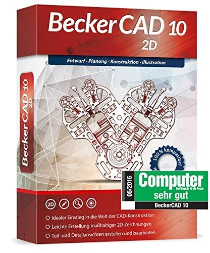 Markt & Technik Becker CAD 10 2D versión completa, 1 licencia Windows CAD-Software