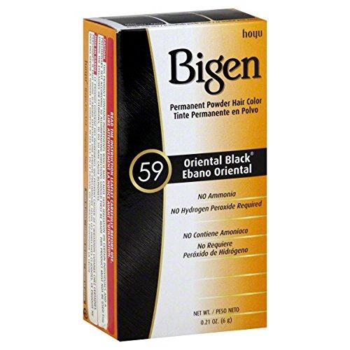 Bigen Permanent Powder Hair Color 59 Oriental Black Permanent Hair Dye Powder