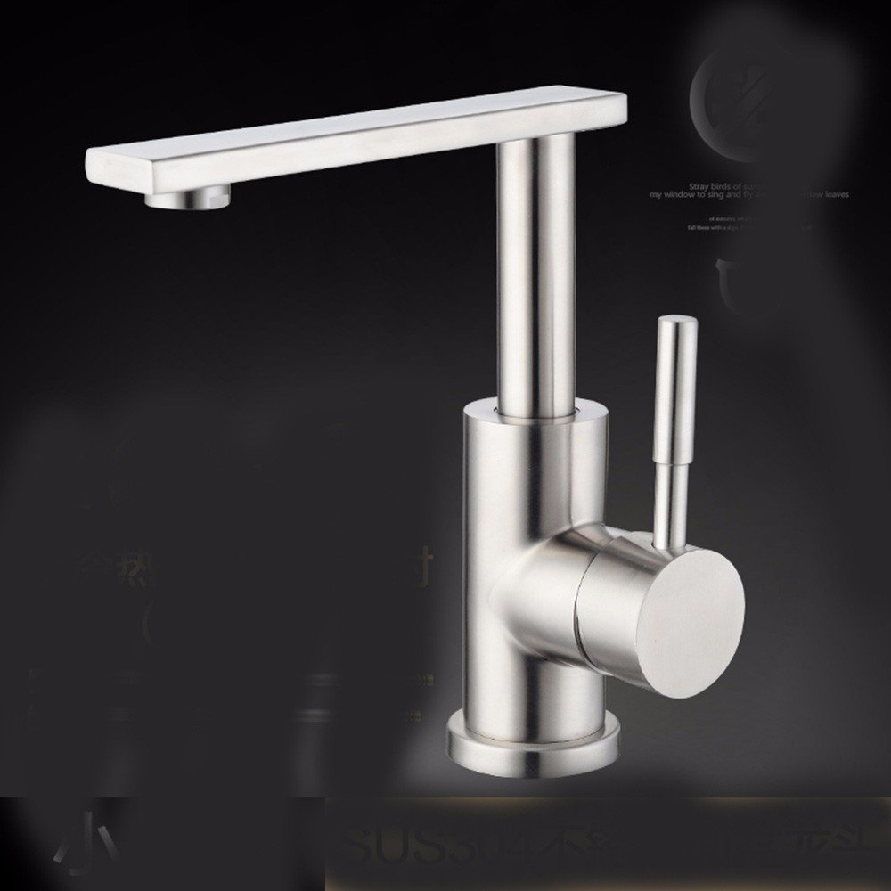 9 Hlluya Professional Sink Mixer Tap Kitchen Faucet 304 Stainless Steel, washing your face, hot and cold water, sanitation, redation, sink and faucet