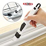 RACHEES Dust Cleaning Brush for Window Frame, Keyboard with Mini Dustpan (Standard Size, Multicolour)