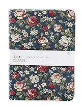 Elegant Creative Graffiti Blank Diary Notepad Notebook Fan Art Floral Fabric