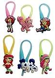 Strawberry Shortcake Luminescent Colorful Silicone Snap Lock Zipper Pulls 6 Pcs Set #1
