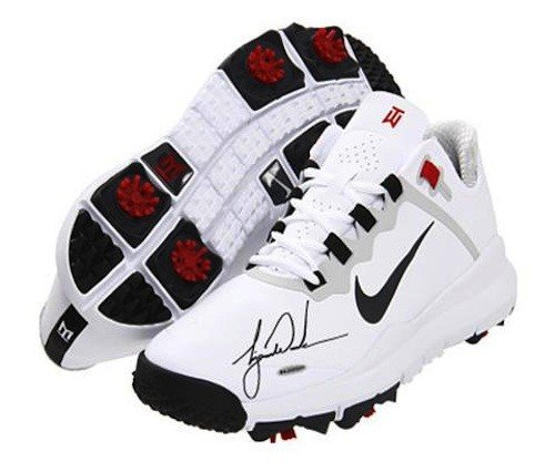 TIGER WOODS Hand Signed Authentic TW 13 White Shoe ()