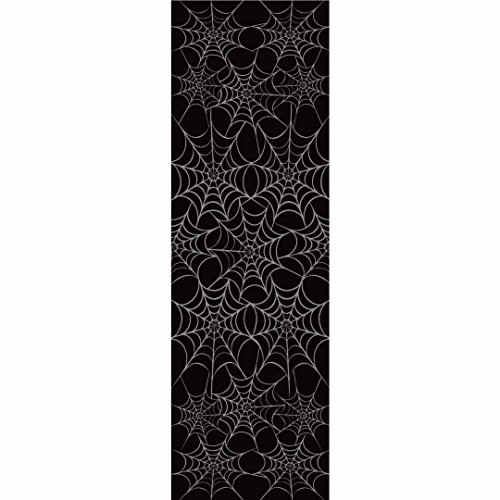 Spider Web Black & White Halloween Table Cover Pack of 2 (White Spider Black)