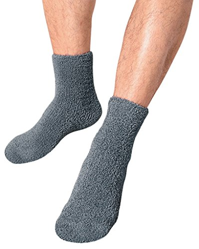 Unisex Fuzzy Microfiber Socks 4 Pack Thick Warm Comfort Crew Fashion Socks, Style 1 by Bienvenu (Image #3)