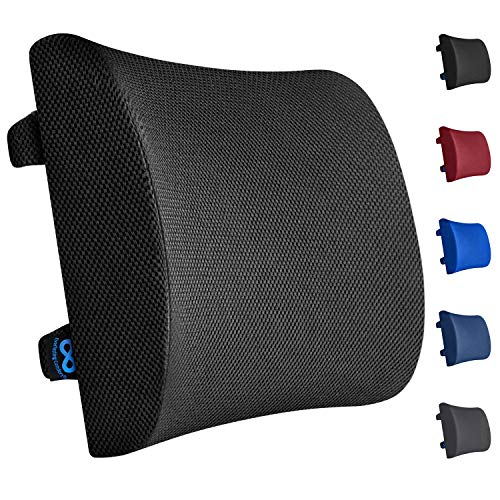 Everlasting Comfort Lumbar Support for Office Chair - 100% Pure Memory Foam Lumbar Pillow for Car...