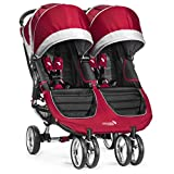 Baby Jogger City Mini Double Stroller, Crimson/Gray