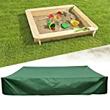 Flurries  Thick Sandbox Cover with Drawstring - Sandpit Cover - Pool Cover - Hot Tub Cover Accessories - UV Protection Waterproof Dustproof Easy Clean Green on Top Lid for Kid (47.24'X47.24')