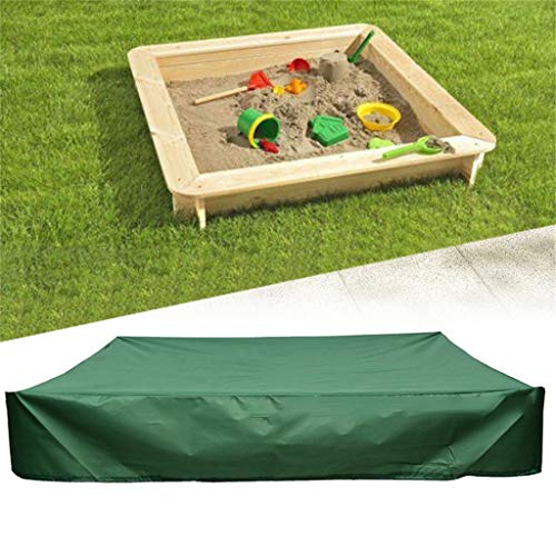 - Flurries  Thick Sandbox Cover with Drawstring - Sandpit Cover - Pool Cover - Hot Tub Cover Accessories - UV Protection Waterproof Dustproof Easy Clean Green on Top Lid for Kid (78.74