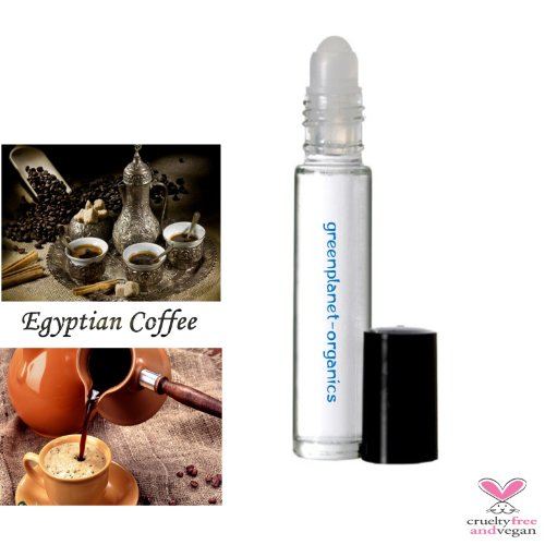Set of 2x .33oz Roll-ons: Egyptian Coffee Perfume Oil (Notes of Rich Dark Roast Coffee, Vetiver & Cedar With a Hint of - Roll 0.33 Ounce Perfume