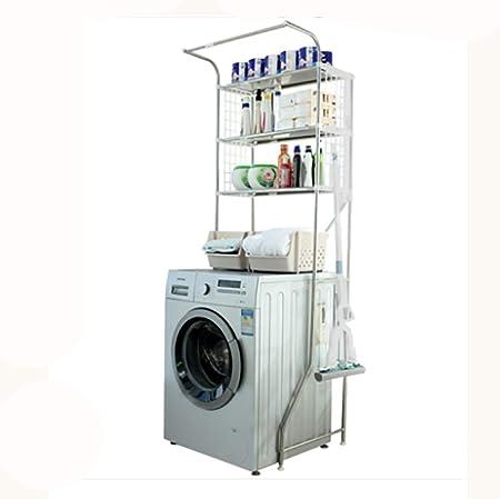 Machine shelf Acero inoxidable lavadora de tres capas inodoro tapa ...