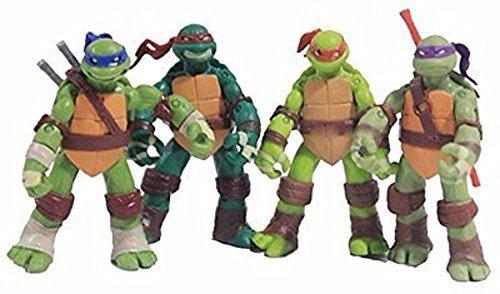 5'' Teenage Mutant Ninja Turtles Classic Collection TMNT Figures Toys 4 Pcs/Set
