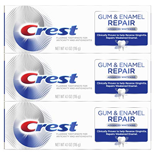 Crest Gum & Enamel Repair Toothpaste Advanced Whitening, 4.1oz Triple Pack from Crest