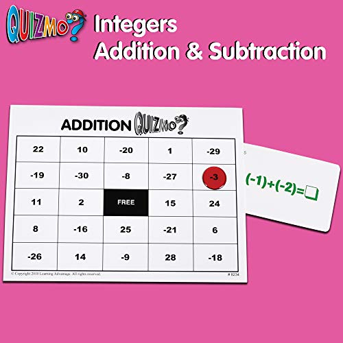 51RwXHl2M4L - Learning Advantage QUIZMO Advanced Elementary Math Series - Set of 6 Bingo-Style Math Games for Kids - Teach Fractions, Decimals, Math Vocabulary, Geometry, Place Value and Integers