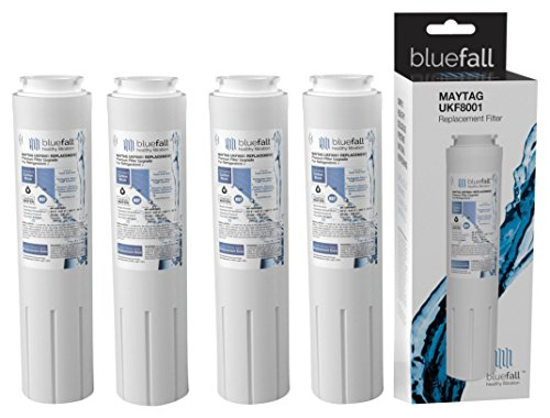 Bluefall 4 Piece Replacement Water Filter for Maytag UKF8001, Whirlpool, Amana Pur, Kitchen Aid, Bosch and Viking Models