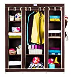 CbeeSo 10 Racks High Capacity Metal Frame Foldable Wardrob (CB360-BR)