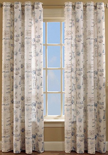 Lorraine Home Fashions by the Sea Window Curtain Panel, 60 x 84-Inch