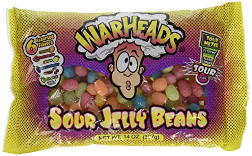 WarHeads Sour Jelly Beans - 14 oz Bag -