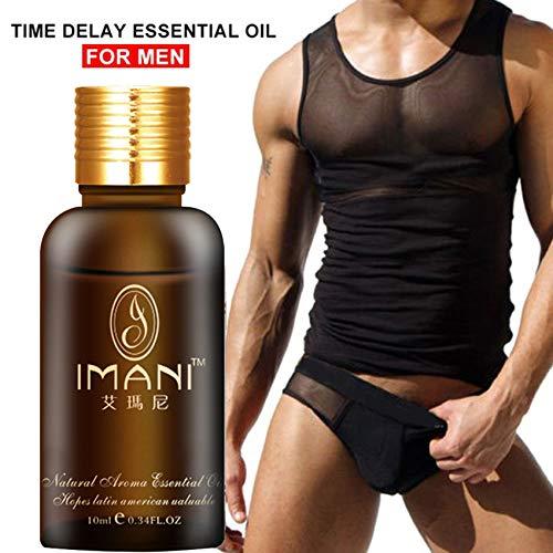 Imani - Retraso de aceite esencial para hombre, aumenta la dureza, el crecimiento de la energía, masaje de 10 ml, extensión...