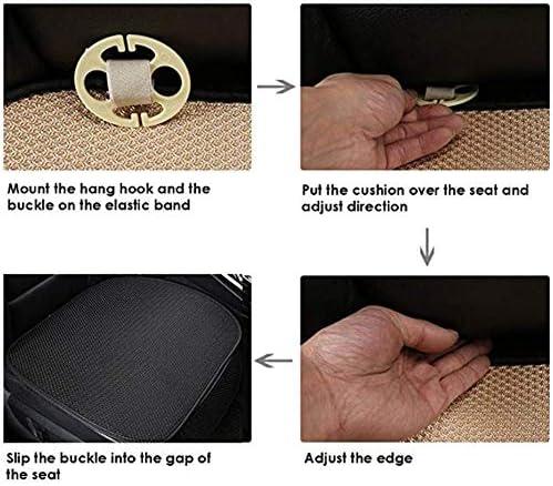 Universal Autositzauflage Schwarz Auto Sitzkissen Vorne Hinten Sitzbezug Set Mit Tasche Sommer Auto Sitzbezug Eis Seide Atmungsaktiv Anti Rutsch Sitzauflage Auto
