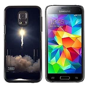 TopCaseStore / la caja del caucho duro de la cubierta de protección de la piel - Rocket takeoff - Samsung Galaxy S5 Mini, SM-G800, NOT S5 REGULAR!