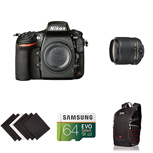 Nikon D810 FX-format Digital SLR Event Photograhpy Lens Kit w/ AmaoznBasics Accessories by Nikon