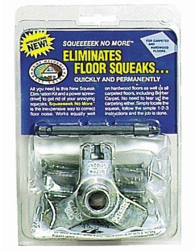 Stops Floor Squeaks From Above the Floor OBerry Squeak No More Kit