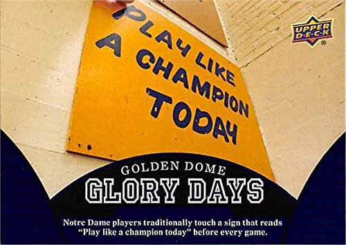 Play Like a Champion Today Sign football card (Notre Dame Fighting Irish) 2012 Upper Deck Golden Dome Glory Days #100