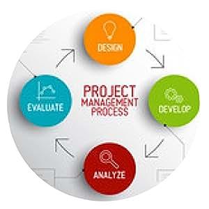 alfombrilla de ratón Proyecto concepto de esquema de proceso de gestión - ronda - 20cm