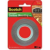 Exterior Mounting Tape, Holds 5 lb., 1''x60'' - 2pc